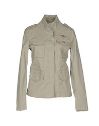 Aeronautica Militare Coats And Jackets Jackets Women Light Grey