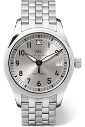 Iwc Schaffhausen Pilot's Automatic 36 Stainless Steel Watch Silver