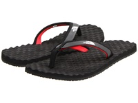 The North Face Base Camp Mini Tnf Black Tnf Red Women's Toe Open Shoes