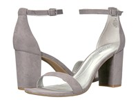 Bandolino Armory Heather Grey Faux Suede Women's Sandals Gray