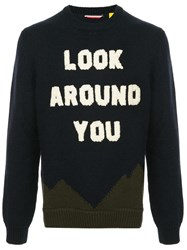Moncler Look Around You Sweater Blue
