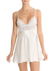In Bloom Blue Belle Low Back Chemise Ivory