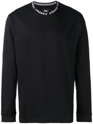 Stussy Long Sleeve Fitted Sweater Black