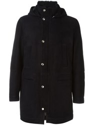 Brunello Cucinelli Hooded Coat Blue