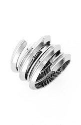 Women's House Of Harlow 1960 'Caral' Rings Silver Set Of 2