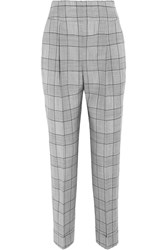 Temperley London Millie Prince Of Wales Check Wool And Mohair Blend Straight Leg Pants