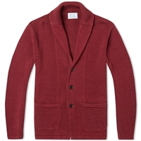 Edifice Shawl Collar Knit Cardigan Brick Red