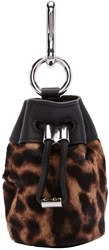 Alexander Wang Brown Calf Hair Mini Roxy Pouch Keychain