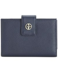 Giani Bernini Softy Leather Wallet Only At Macy's Navy