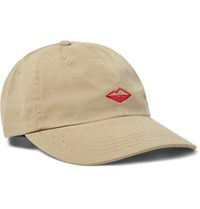 Battenwear Embroidered Cotton Twill Baseball Cap Beige