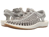 Keen Uneek Neutral Gray White Women's Toe Open Shoes