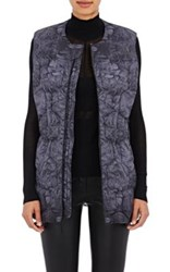 The North Face Women's Abstract Print Hexagon Quilted Puffer Vest Grey