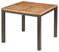 Barlow Tyrie Aura Square Dining Table Teak Top