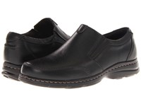 Dunham Bradford Twin Gore Slip On Black Pebble Men's Slip On Shoes
