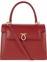 Launer Judi Leather Tote Red