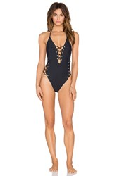 Gypsy 05 Conch Mondrian Grommet Laced One Piece Black