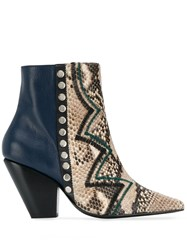 Toga Pulla Zig Zag Ankle Boots Blue