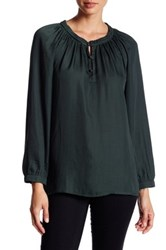 14Th And Union Ruffle Peasant Blouse Green
