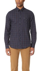 Ben Sherman Tattersall Check Shirt Navy Blazer