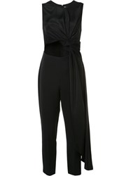 Roksanda Ilincic Cut Out Knot Jumpsuit Black