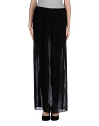 Patrizia Pepe Sera Long Skirts Black