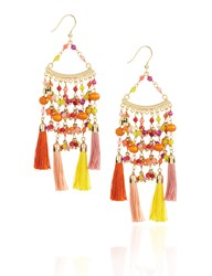Rosantica Multi Beaded Kilimangiaro Earrings Red