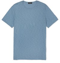 Theory Gaskell Slim Fit Slub Cotton Jersey T Shirt Light Blue