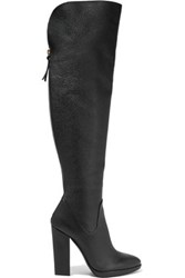 Giuseppe Zanotti Textured Leather Over The Knee Boots Black