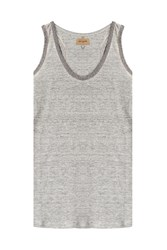 True Religion Embellished Linen Tank Grey