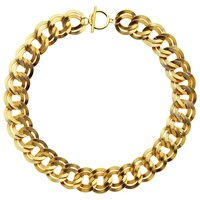 Monet Double Chain Necklace Gold