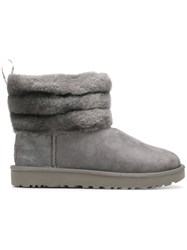 Ugg Australia Fluff Mini Quilted Boots Grey