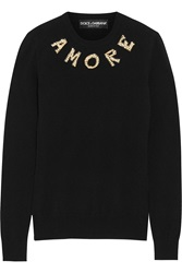 Dolce And Gabbana Embellished Cashmere Sweater