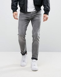 Selected Homme Jeans In Skinny Fit Stretch Denim Washed Grey