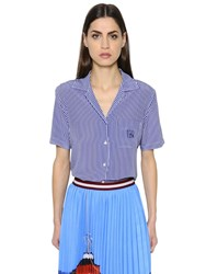 Stella Jean Striped Silk Crepe De Chine Shirt