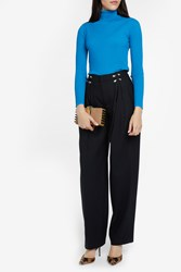 Missoni Women S Turtleneck Rib Knit Boutique1 Blue