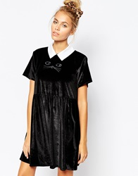 Lazy Oaf Cat Collar Dress For Halloween Black