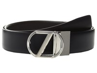 Z Zegna Adjustable Reversible Bsecc1 35Mm Belt Navy Black