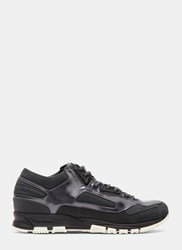 Lanvin Low Top Iridescent Panelled Running Sneakers Black