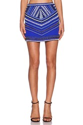 Karina Grimaldi Draco Beaded Skirt Royal