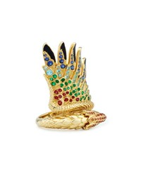 Lalique 18K Gold Multi Stone Bird Ring