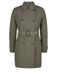 Aquascutum London Murray Double Breasted Wadded Trench Green