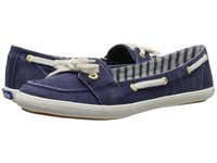 Keds Teacup Boat Seasonal Solid Navy Women's Lace Up Casual Shoes