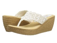 Sbicca Porto White Women's Wedge Shoes