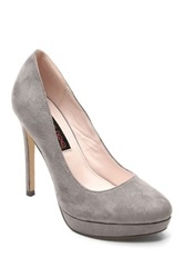 Two Lips Too Lucilla Platform Pump Gray