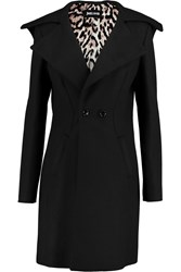 Just Cavalli Wool Blend Coat Black