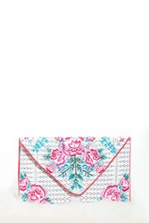Forever 21 Charade Rose Clutch Natural Multi