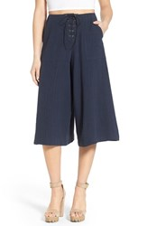Women's Astr 'Cristina' Lace Up Culottes