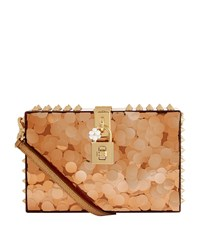 Dolce And Gabbana Spiked Perspex Box Clutch Female Gold