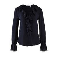See By Chloe Lace Blouse Ink Navy