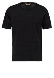 Lee Raglan Tee Basic Tshirt Black Mottled Black